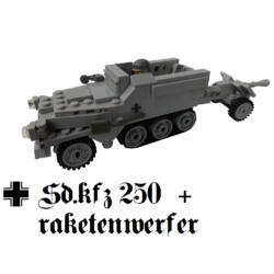 Mini Sd.kfz 250 Rakétalövővel-MP40-es géppuskával