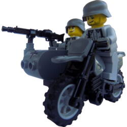 BMW R75 oldalkocsival MG42-es géppuskával